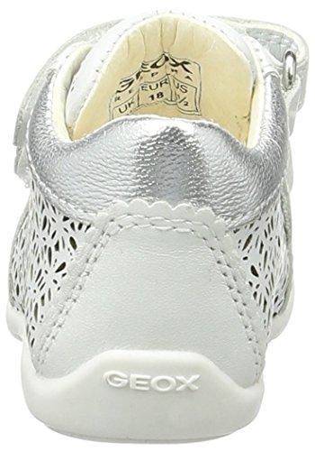 Geox B Kaytan D - Zapatos Unisex bebé Blanco (White/silverc0007)