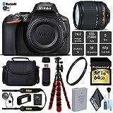 Nikon D5600 DSLR Wi-FI NFC 24.2MP DX CMOS Camera AF-S 18-140mm VR Lens + UV Protection Lens Filter + 12 inch Flexible Tripod + Camera Case - International Version