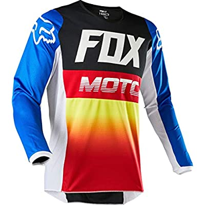 2020 Fox Racing Youth 180 Fyce Jersey-Blue/Red-YM: Fox Racing: Clothing