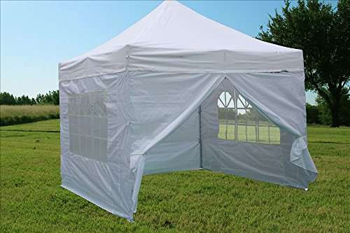 10'x10′ Pop Up Canopy Party Tent Gazebo EZ White – F Model For Sale