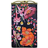 Anuschka Women's Genuine Leather Double Eyeglass Case | Hand Painted Original Artwork | Moonlit Meadow