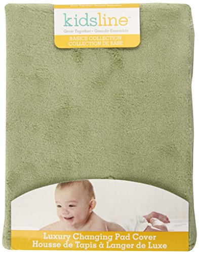 UPC 789887257263, Kids Line Luxury Contour Changing Pad Cover, Sage