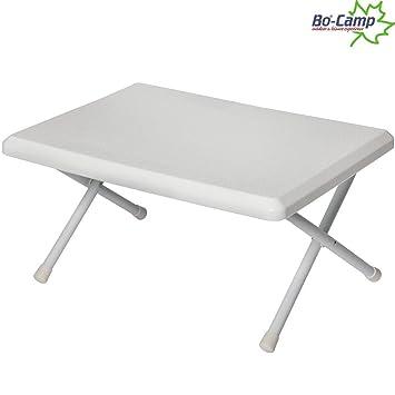 mini tisch mit metallgestell flach faltbar 52x37x22 cm wei kleiner camping tisch - Kleiner Kuchentisch Klappbar