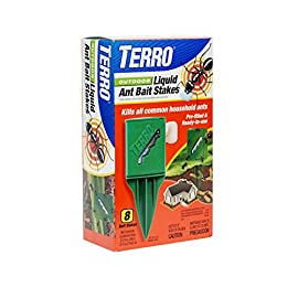 Terro Outdoor Liquid Ant Killer Bait Stakes 13 Contains 8 patented 0.25 oz. weatherproof ant bait stakes that are ready-to-use Attracts and kills all common household ants outside before they get inside Tiered bait pack increases bait consumption, minimizes waste