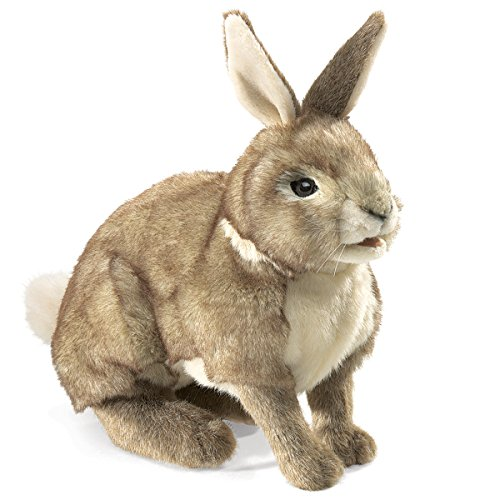 Folkmanis Cottontail Rabbit Hand Puppet (Rabbit Stage Puppet)