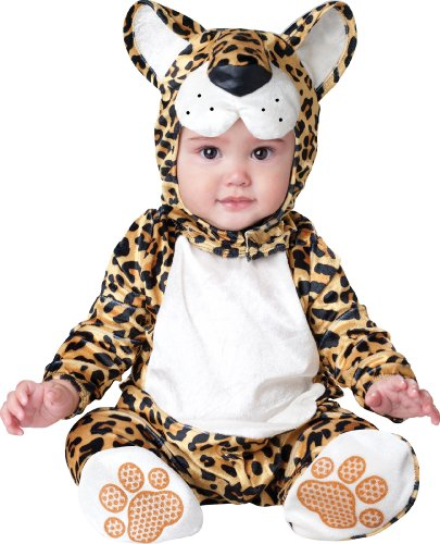 InCharacter Costumes Baby's Leapin' Leopard Costume, Yellow/Black, Small