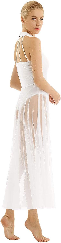 inlzdz Lyrical Robe de Danse Moderne et contemporaine pour Femme