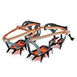 SODIAL(R) Mountaineering Hiking Crampons 14 Teeth Outdoor Antislip Ice Snow Shoe Spikes
