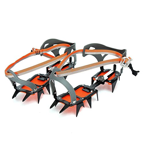 SODIAL(R) Mountaineering Hiking Crampons 14 Teeth Outdoor Antislip Ice Snow Shoe Spikes by SODIAL(R)