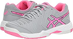 Asics E755y Women's Gel-game 6 Running Shoes, Mid Greyhot Pinkwhite - 9 B (M) Us
