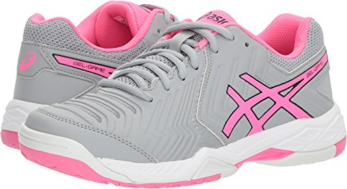 ASICS E755Y Women's Gel-Game 6 Running Shoes, Mid Grey/Hot Pink/White - 9 B (M) US