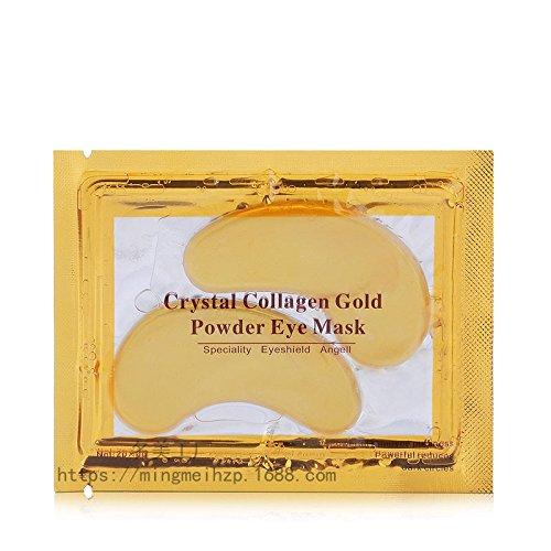 Thinkmax Crystal Eye maschere 24K Gold Powder gel Collagen Eye Masks–anti rughe, anti Aging, Remove Bags, dark Circles & Puffiness–1paio, 6G