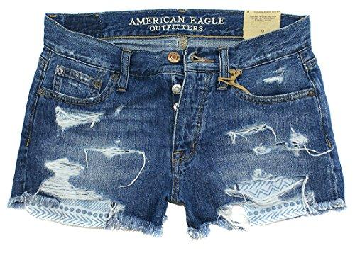 Eagle Denim Shirt - American Eagle Women's Hi-Rise Shortie Shorts W-23 (6, 4709)