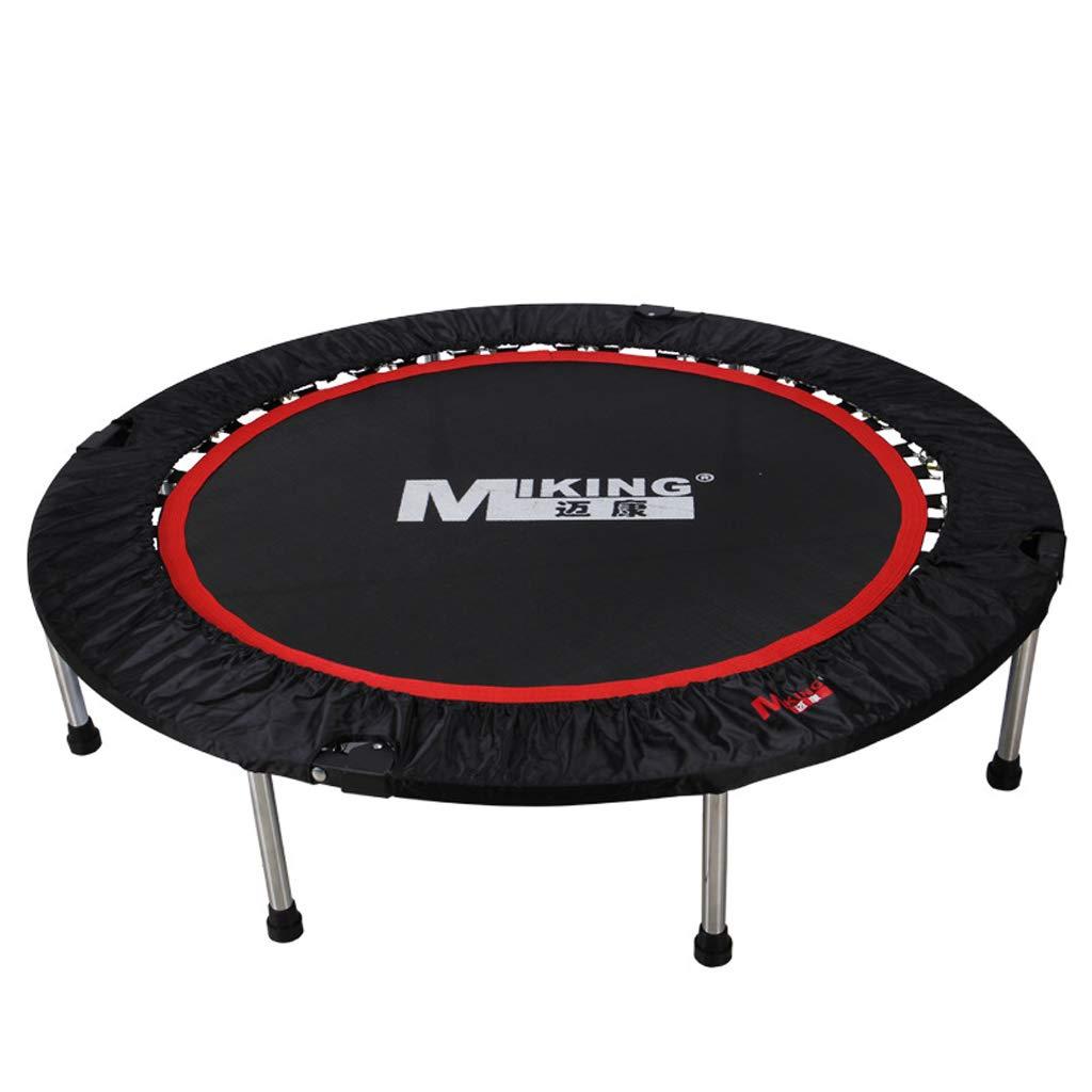 Unbekannt Lxn Max Belastung 330lbs Fitness schwarz Trampolin mit Sicherheits Pad für Indoor/Outdoor Workout Cardio Training (50-Zoll, faltbar)