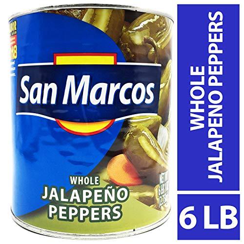 San Marcos Whole Jalapenos, 6 Lb, 97 oz, Carefully handpicked Whole Jalapeños - Jalapeno Whole Peppers