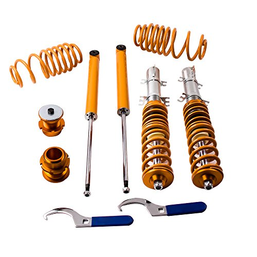 Vw Jetta Coilovers - maXpeedingrods Coilovers Lowering Suspension Kits for VW Golf/Jetta/Bora/GLI/TDI MK4 1998 1999 2000 2001 2002 2003 2004 2005