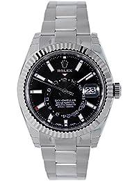 Sky-Dweller 42mm Stainless Steel Black Dial Watch 326934