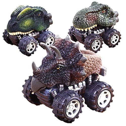 [해외]컬러 릴리스 4PC 어린이날 선물 장난감 공룡 모델 풀 백 그리고 공룡이 앞으로 걸어! 자동차 선물 7x5x6cm의 미니 장난감 자동차 뒷면-US 스톡 / COLOR-LILIJ 4PC Children`s Day Gift Toy Dinosaur Model Pull Back and The Dinosaur Will Walk For...