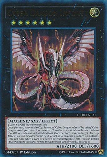 Yugioh 1st Ed Cyber Dragon Infinity LEDD-ENB31 Ultra Rare 1st Edition Legendary Dragon Decks