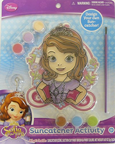 [Disney Junior Sofia the First Suncatcher Activity with Paint and Brush] (Captain America First Avenger Halloween Costume)