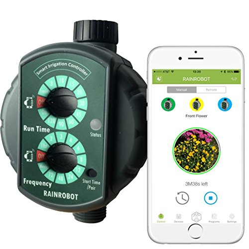 Wireless Faucet Controller - RainRobot SC6400 Smart Irrigation Controller/Smart Hose Timer, Instant One-Touch Control from Indoors with Smartphone (iPhone/Android), Reliable Long Range Control, Multi-Zone Support, Water Saver