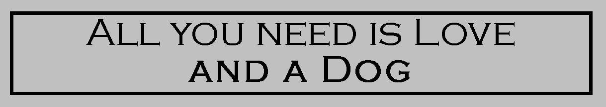 TODO lo que necesitas es amor y un perro–graciosa pintada a mano de madera señal de amante de perro/pared placa WWW