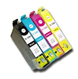4 Chipped Compatible Epson T1291 T1292 T1293 T1294 T1295 Apple Multipack Ink Cartridges for B42WD