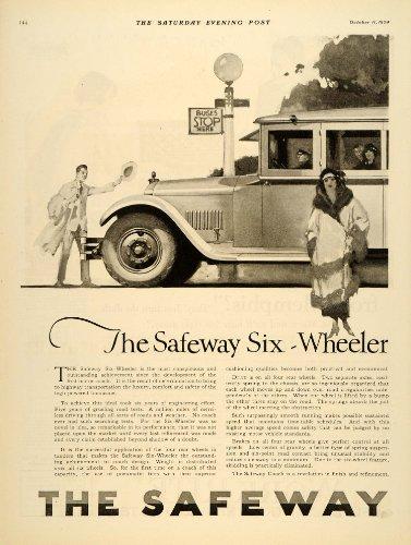 1924-ad-antique-safeway-6-wheeler-coach-charles-schwab-original-print-ad