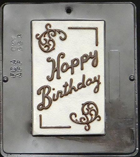 Happy Birthday Card Chocolate Candy Mold 553