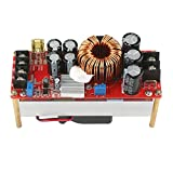 Boost Voltage Converter, DROK 1500W Voltage Regulator Booster DC 10V-60V 12V Step Up to DC 12V-90V 24V 20A Input Power Supply Module High Power Volt Transformer Circuit Board with Cooling Fan