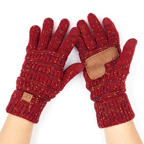 Hatsandscarf C.C Exclusives Women Solid Ribbed Glove with Smart Tips (G-20) ()