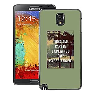 Supergiant (God Love Motivational Quote Text Poster) Impreso colorido protector duro espalda Funda piel de Shell para Samsung Note 3 N9000