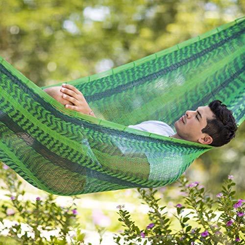 Colore: Verde 410 x 250 x 150 cm per 3 Persone MacaMex Amaca a Rete Messicana 250 kg