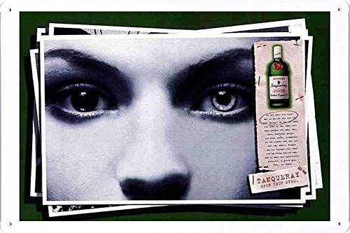 (DYTrade Tin Sign Metal Poster Plate (8x12) of Tanqueray Special Dry Gin: Eyes Decor Sign)