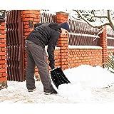 PIXNOR Snow Shovel Compact Telescopic Plastic Snow