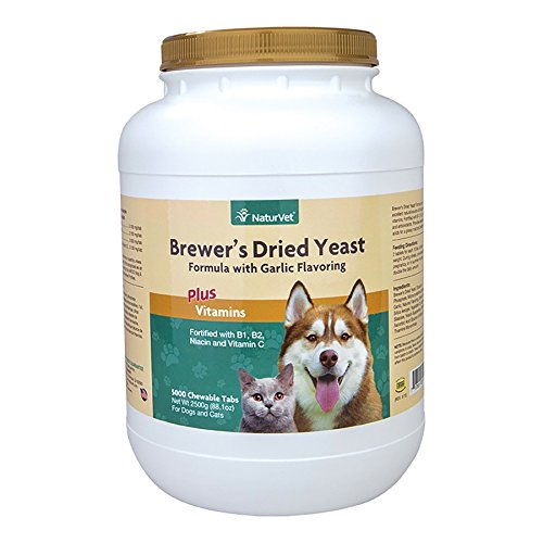 NaturVet 5000 Count Brewer's Dried Yeast Formula Tablets for Dogs and (Garlic Tablets Dogs)