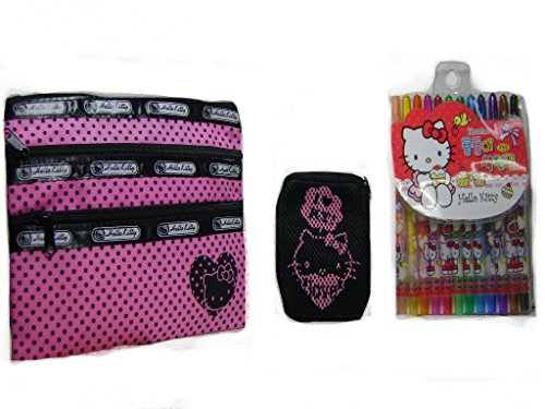 Hello Kitty Crayons Accessories Case and Coins Pocket