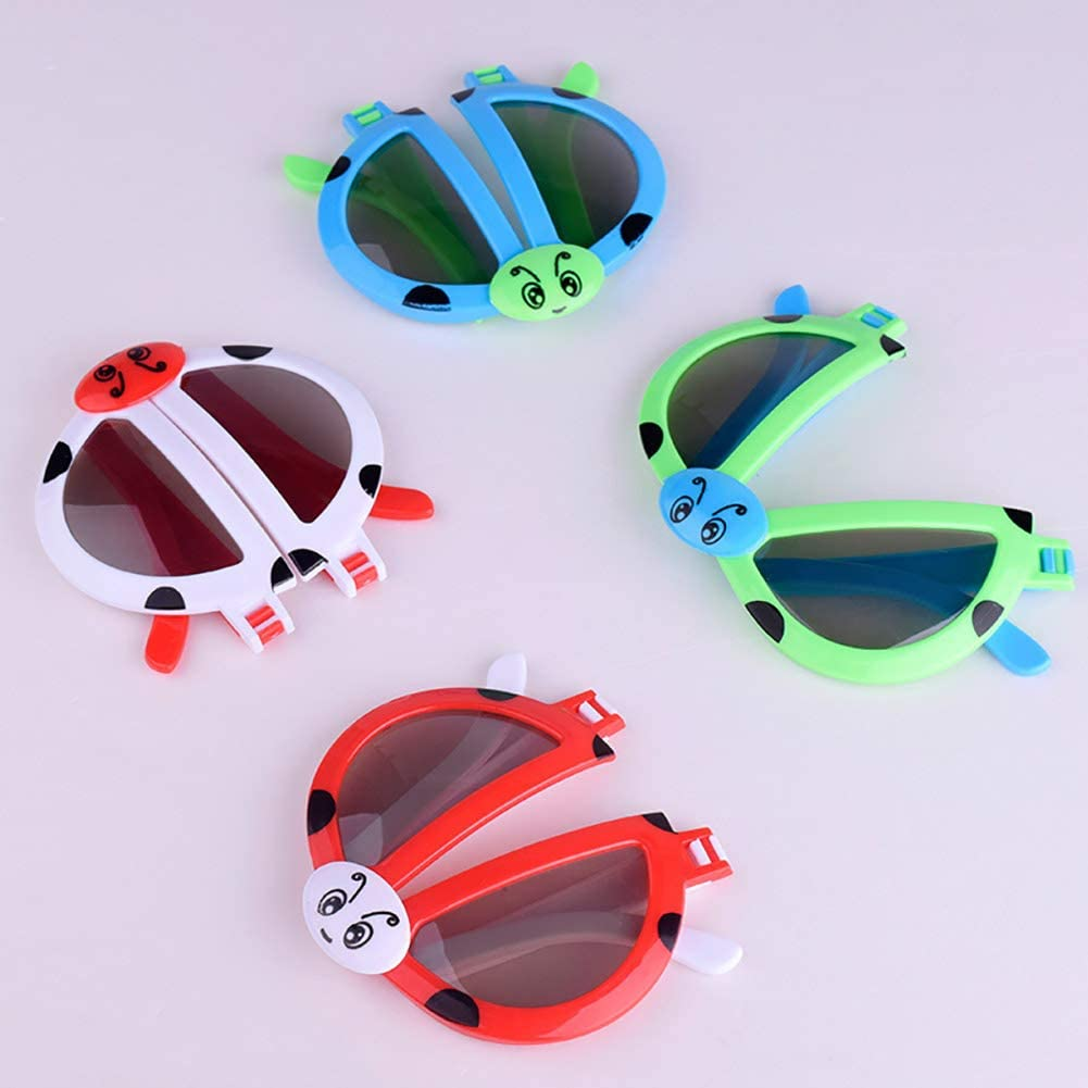tailor13me Foldable Kids Childrens Summer Eye Protection Sunscreen Toy Sunglasses Girls Boys Glasses Cute Child Eyewear Shades Goggles Random Color
