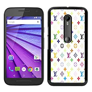 Louis Vuitton Patterns On White Background Black Recommended Picture Custom Motorola Moto G 3rd Generation Case