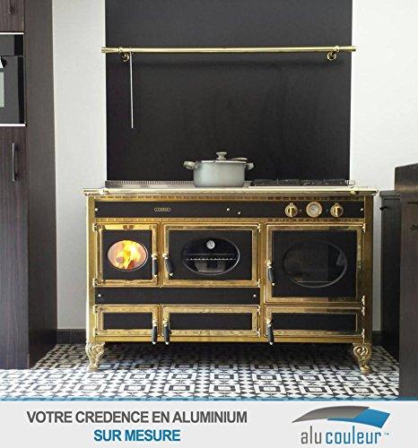 AluCouleur Credenza da cucina in Nero (RAL 9005) H 65 cm x l 60 cm ...
