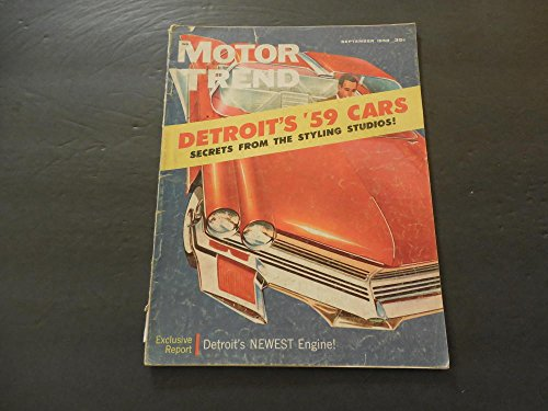 Motor Trend Sep 1958 The Latest From - Trend Glasses Latest