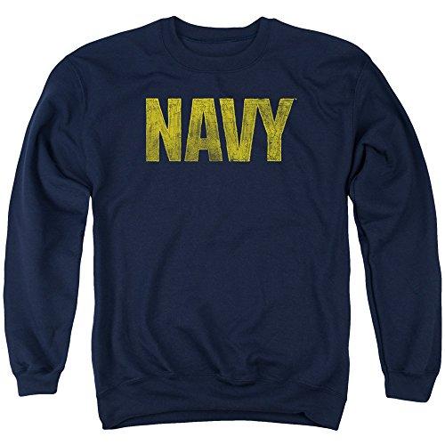 Navy - Logo Adult Crewneck Sweatshirt