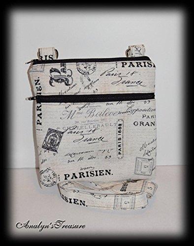 Parisien Quilted Crossbody Bag, Crossbody Purse, Paris Crossbody Bag, Travel Purse, Zippered Bag, Passport Bag, Travel Bag, Quilted Bag, Paris Quilted Bag