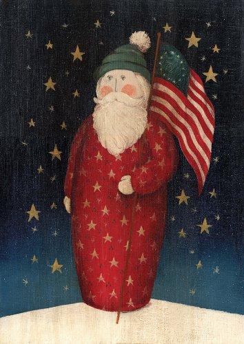 Toland Home Garden Flag Waving Santa 12.5 x 18-Inch Decorative USA-Produced Garden Flag