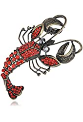 Vintage Repro Crystal Rhinestone Lobster Fashion Jewelry Pin Brooch
