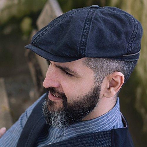b44f28e0e Stetson Brooklin Cotton Newsboy Cap Men | Flat hat Men´s with Peak  Spring-Summer