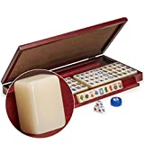 Yellow Mountain Imports Miniature American Mahjong (Mah Jong, Mahjongg, Mah-Jongg, Mah Jongg) Set with 166 Tiles, Case, and Accessories, Travel Set