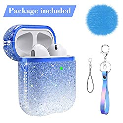 AirPods Case with Lanyard Keychain & Bling Diamonds & Crystal