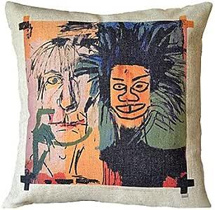 Basquiat Cotton Garabatos Decorative Pillow Cover: Amazon.es: Hogar