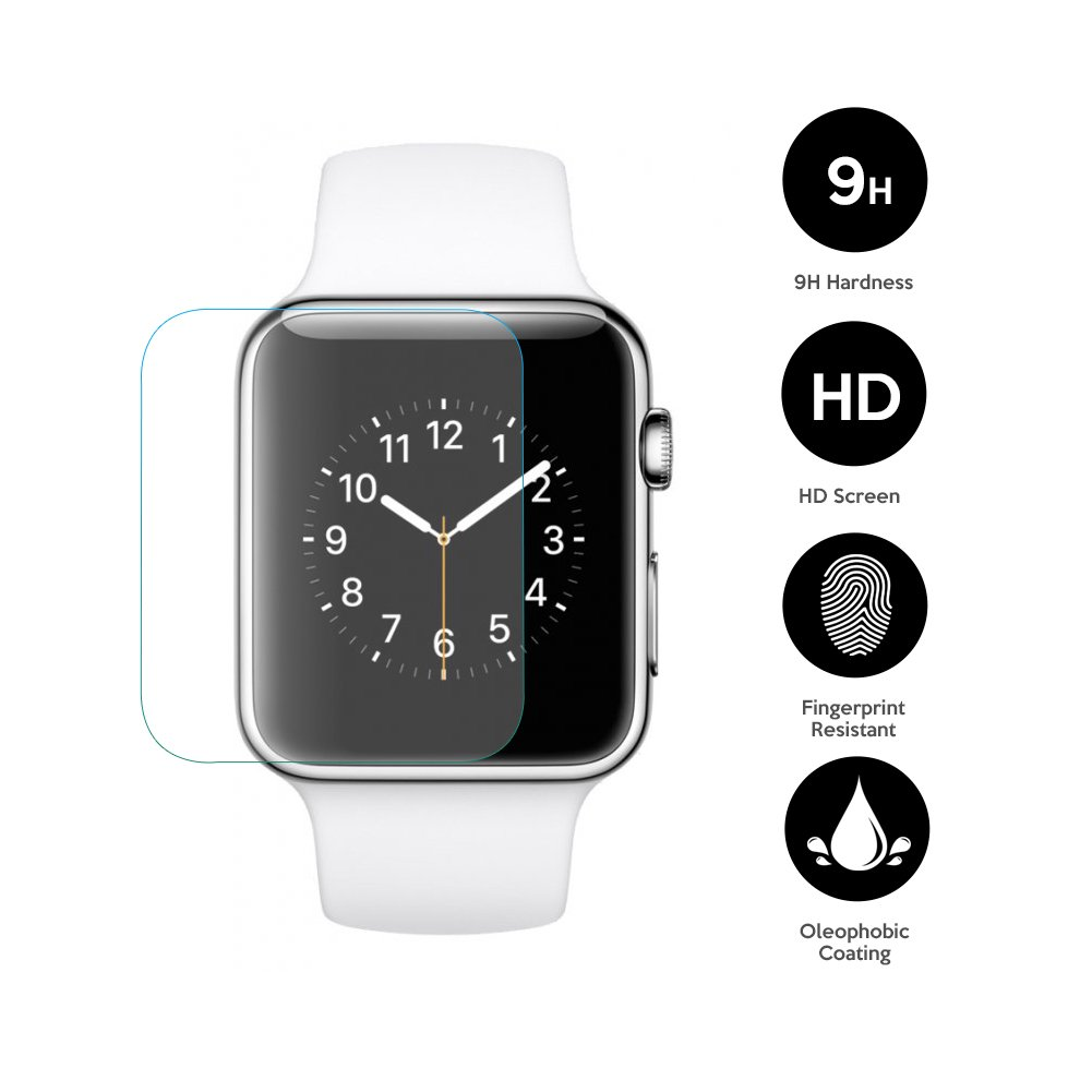 EXINOZ Apple Watch Screen Protector I Protection with 1-Year Replacement Warranty I Get the Best for Your Apple Smart Watch (38mm 2 Pack) by EXINOZ (Image #2)